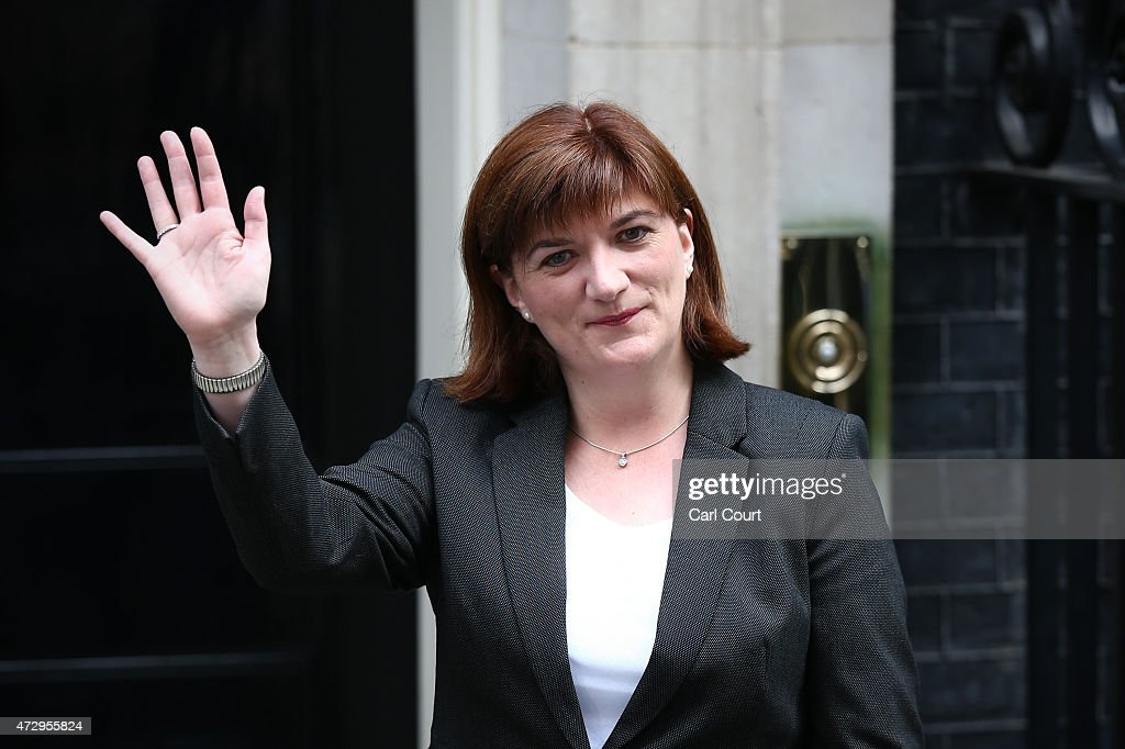 Nicky Morgan, who will continue as Secretary of State for Education, arrives at Downing Street on May 11, 2015 in London, England. Prime Minister David Cameron continued to announce his new cabinet with many ministers keeping their old positions.