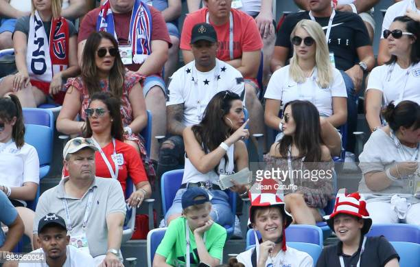 Nicky Pike, wife of Ashley Young of England, Annabel Peyton, fiancee of Jack Butland, below Rebekah Vardy, wife of Jamie Vardy, Annie Kilner,...