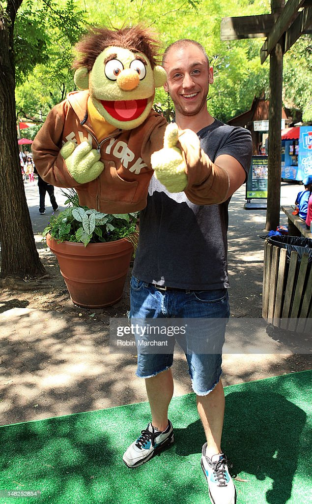 Nicky, Rob Morrison, of Avenue Q visits at Bronx Zoo on July 12, 2012 in New York City.