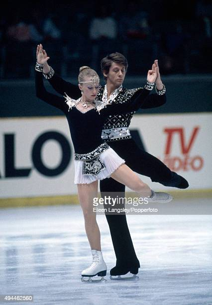 Nicky Slater and Karen Barber of Great Britain performing in the ice dancing event during the European Figure Skating Championships in Gothenburg...