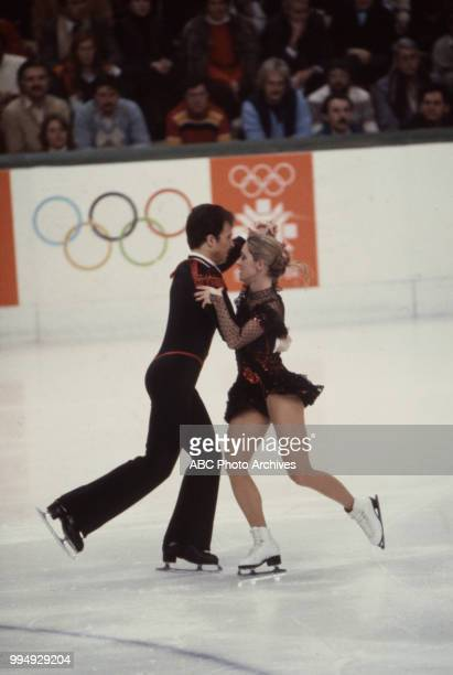 Nicky Slater Karen Barber in the ice dancing competition at the 1984 Winter Olympics / XIV Olympic Winter Games Zetra Ice Hall