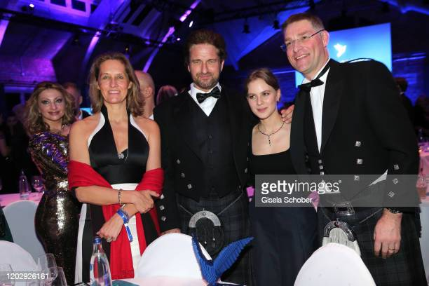 Nicky von Habsburg, Gerard Butler, Alicia von Rittberg and Magnus MacFarlane Barrow during the Cinema For Peace Gala at Westhafen Event & Convention...