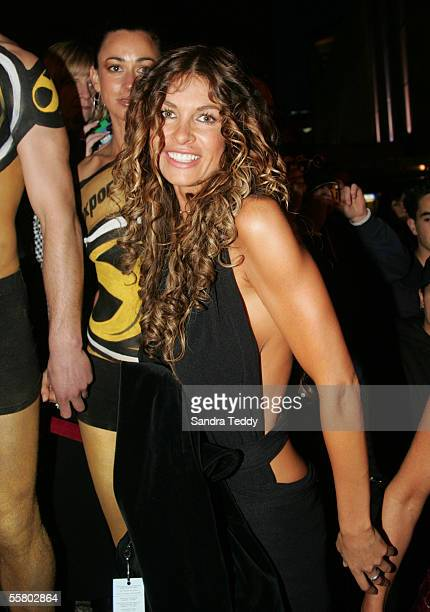 Nicky Watson arrives at the Vodafone New Zealand Music Awards at the Aotea Centre in Auckland Wednesday September 22nd 2004