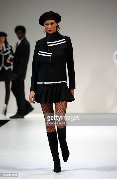 Nicky Watson models Barbara Lee Autumn/Winter 2004 collection in the Canterbury show during the L'oreal New Zealand Fashion Week held at Auckland's...