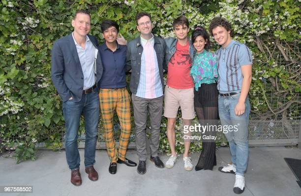 Nicky Weinstock Nik Dodani Craig Johnson Daniel Doheny Ayden Mayeri and Antonio Marziale attend a special screening of the Netflix film 'Alex...