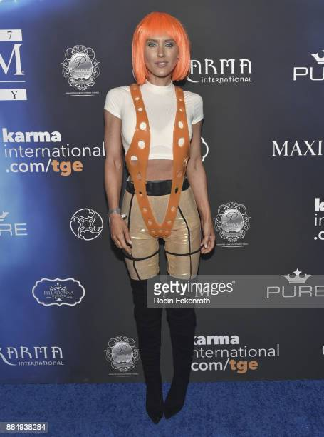 Nicky Whalen arrives at the 2017 MAXIM Halloween Party at LA Center Studios on October 21, 2017 in Los Angeles, California.