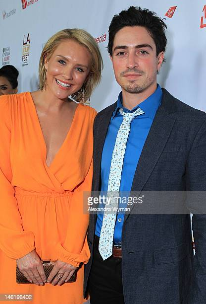 """Nicky Whelan and Ben Feldman at The 2012 Los Angeles Film Festival Official Kick Off Premiere Of """"Departure Date"""" sponsored by Virgin Airlines held..."""