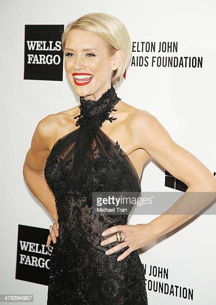 Nicky Whelan arrives at the 22nd Annual Elton John AIDS Foundation's Oscar viewing party held on March 2 2014 in West Hollywood California