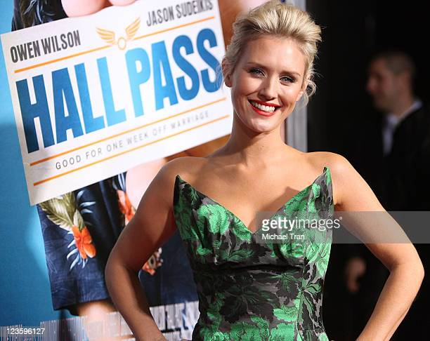 Nicky Whelan arrives at the Los Angeles premiere of Hall Pass held at ArcLight Cinemas Cinerama Dome on February 23 2011 in Hollywood California