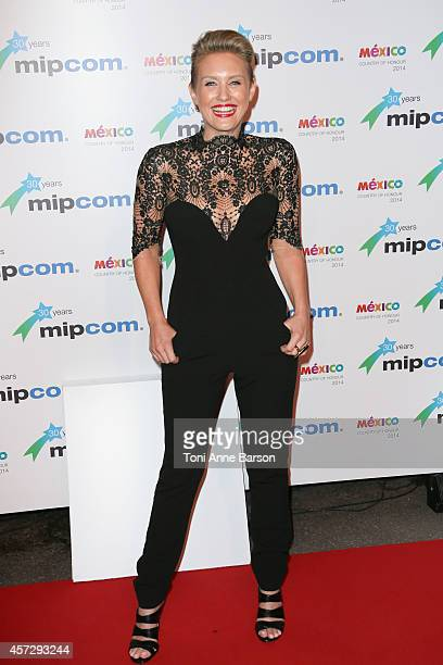 Nicky Whelan arrives at the MIPCOM opening Party at Hotel Martinez on October 13 2014 in Cannes France