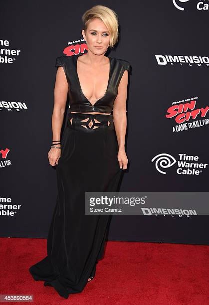 Nicky Whelan arrives at the Sin City A Dame To Kill For Los Angeles Premiere at TCL Chinese Theatre on August 19 2014 in Hollywood California
