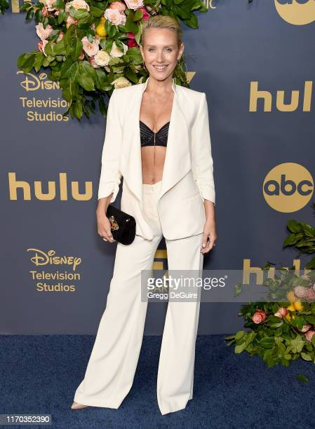 Nicky Whelan arrives at the Walt Disney Television Emmy Party on September 22 2019 in Los Angeles California