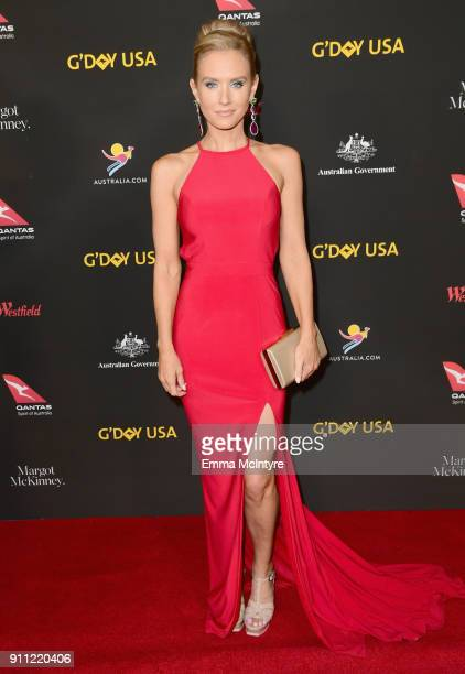 Nicky Whelan attends 2018 G'Day USA Los Angeles Black Tie Gala at InterContinental Los Angeles Downtown on January 27 2018 in Los Angeles California