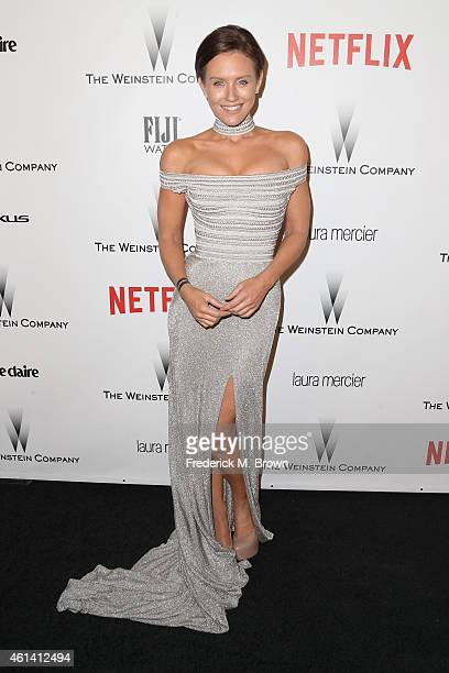 Nicky Whelan attends the 2015 Weinstein Company and Netflix Golden Globes After Party at Robinsons May Lot on January 11 2015 in Beverly Hills...