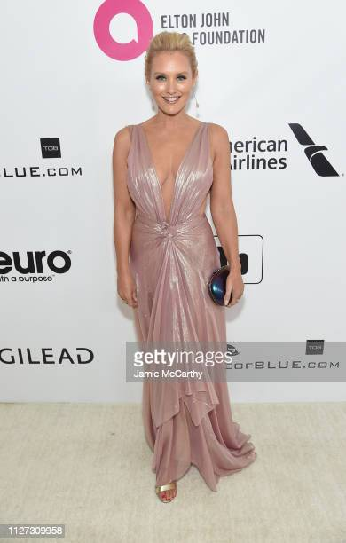 Nicky Whelan attends the 27th annual Elton John AIDS Foundation Academy Awards Viewing Party sponsored by IMDb and Neuro Drinks celebrating EJAF and...