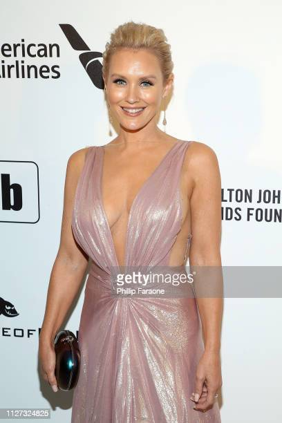 Nicky Whelan attends the 27th Annual Elton John AIDS Foundation Academy Awards Viewing Party Celebrating EJAF and The 91st Academy Awards on February...