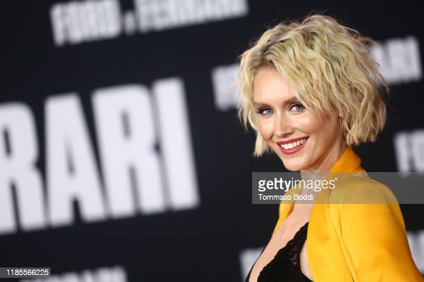 """Nicky Whelan attends the Premiere Of FOX's """"Ford V Ferrari"""" at TCL Chinese Theatre on November 04, 2019 in Hollywood, California."""