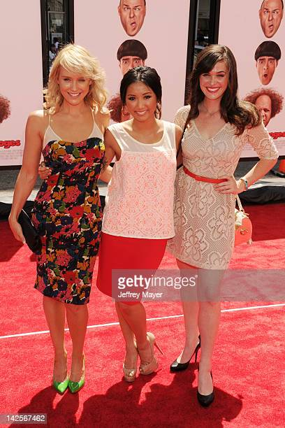 Nicky Whelan Brenda Song and Christine Woods attend the Los Angeles premiere of The Three Stooges on April 7 2012 in Hollywood United States