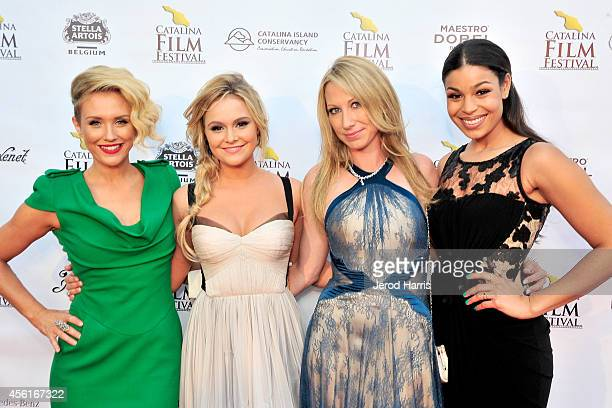 Nicky Whelan Cassi Thomson Georgina Rawlings and Jordin Sparks attend the premiere of 'Left Behind' at the 2014 Catalina Film Festival on September...