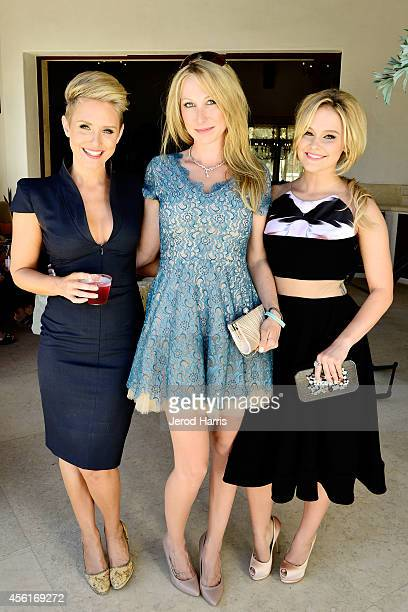 Nicky Whelan Georgina Rawlings and Cassi Thomson attend the reception for 'Left Behind' at the 2014 Catalina Film Festival on September 26 2014 in...