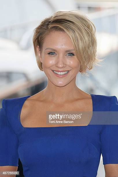 Nicky Whelan poses during the 'Matador EONE' photocall at Mipcom 2014 on October 13 2014 in Cannes France
