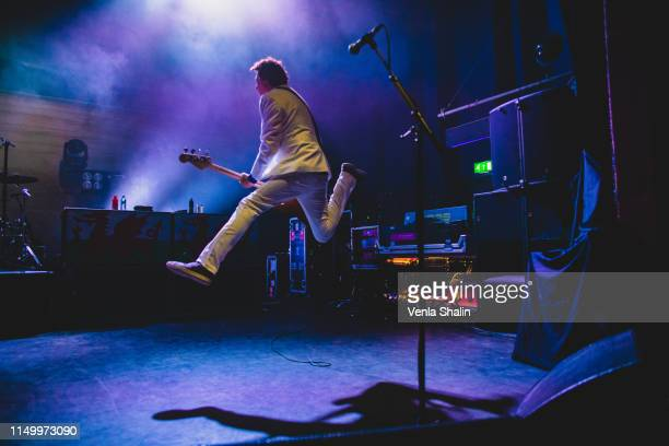 Nicky Wire of Manic Street Preachers performs at the O2 Shepherd's Bush Empire on May 17 2019 in London England