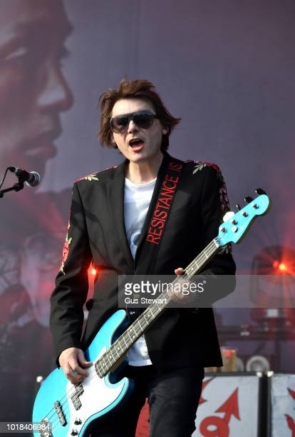 ONLY Nicky Wire of Manic Street Preachers performs on the main stage at RiZE Festival on August 17 2018 in Chelmsford United Kingdom