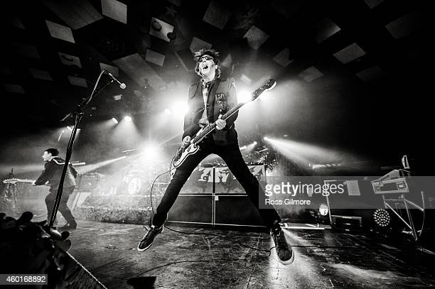 Nicky Wire of the Manic Street Preachers performs on stage at Barrowlands Ballroom on December 8 2014 in Glasgow United Kingdom