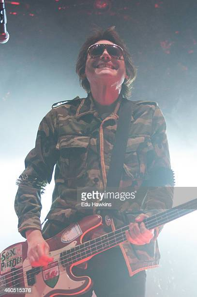 Nicky Wire of The Manic Street Preachers performs on stage at The Roundhouse on December 15 2014 in London United Kingdom