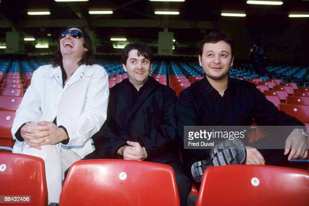 Nicky Wire Sean Moore and James Dean Bradfield of Manic Street Preachers