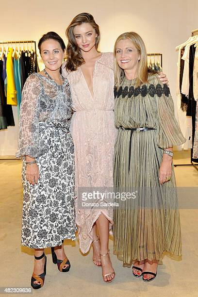 Nicky Zimmermann model Miranda Kerr and Simone Zimmermann attend the opening of the ZIMMERMANN Melrose Place Flagship Store hosted by Nicky and...