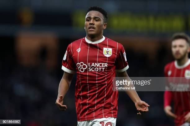 Niclas Eliasson of Bristol City during the Emirates FA Cup Third Round match between Watford and Bristol City at Vicarage Road on January 6 2018 in...