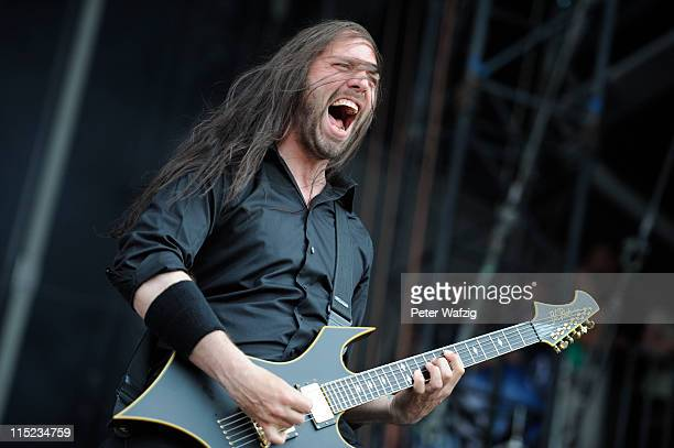 Niclas Engelin of In Flames performs on stage during the second day of Rock Am Ring on June 04 2011 in Nuerburg Germany