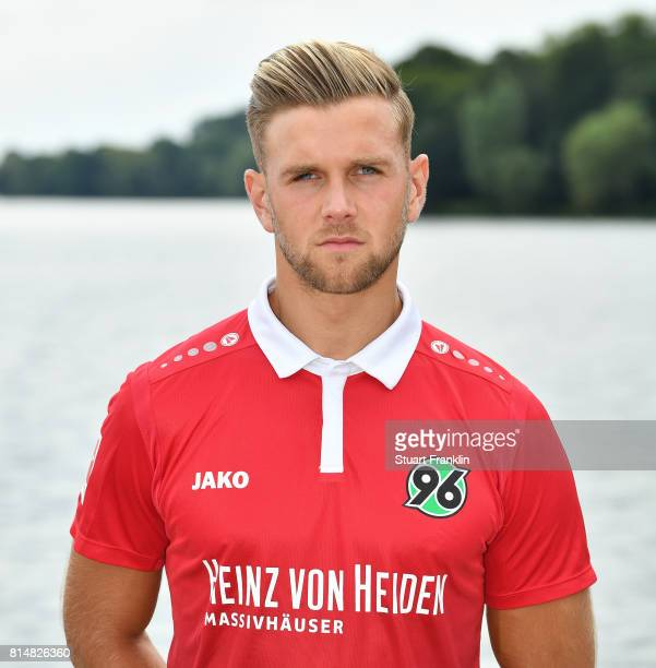 Niclas Fuellkrug of Hannover 96 poses during the team presentation at on July 14 2017 in Hanover Germany