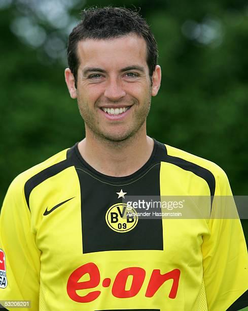 Niclas Jensen poses during the team presentation of Borussia Dortmund for the Bundesliga season 2005 2006 on July 6 2005 in Gottingen Germany