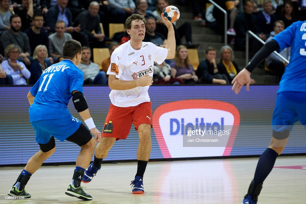 Niclas Kirkelokke In Action During The Ehf Euro 2020