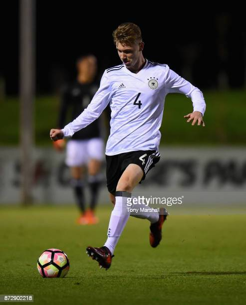 Niclas Knoop of Germany during the International Match between Germany U17 and Portugal U17 at St Georges Park on November 11 2017 in BurtonuponTrent...