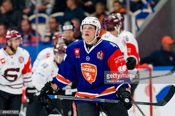 Niclas Lundgren of Växjö Lakers is sad after HC Sparta Prague has scored 1-2 in the second period during the Champions Hockey League group stage game...