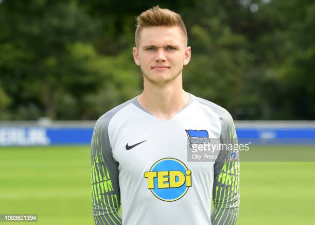 Niclas Wild of Hertha BSC U23 during the DFL media day at the Schenkendorfplatz on july 22 2018 in Berlin Germany