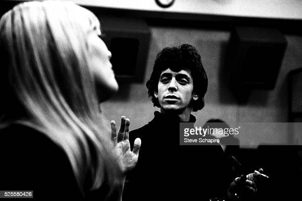 Nico and Lou Reed at Scepter Studios during the recording of the first Velvet Underground album