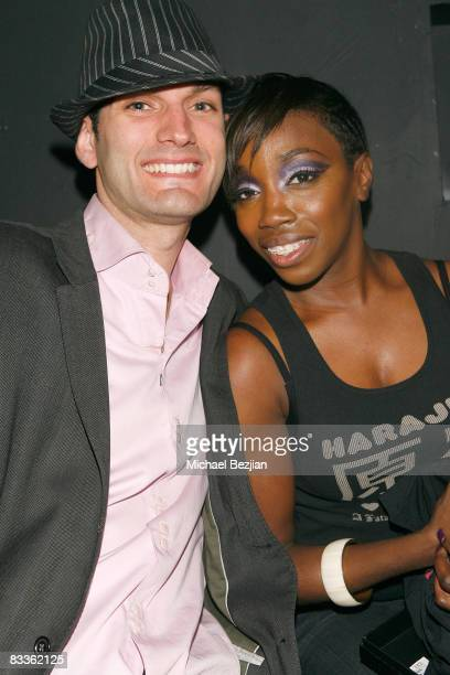 Nico and recording artist Estelle attend Love Sessions on October 17 2008 in Los Angeles California