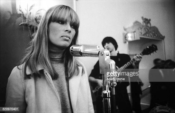Nico and Sterling Morrison of the Velvet Underground perform on stage at the New York Society for Clinical Psychiatry annual dinner, The Delmonico...