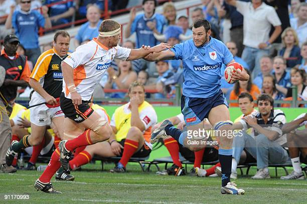 Nico Breedt of the Free State Cheetahs and Danie Rossouw of the Blue Bulls during the Absa Currie Cup match between Blue Bulls and the Free State...