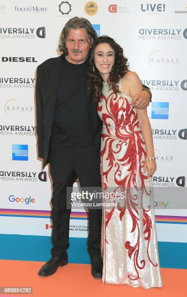Nico Colonna and Francesca Vecchioni attend Diversity Media Awards Charity Gala Dinner on May 29 2017 in Milan Italy