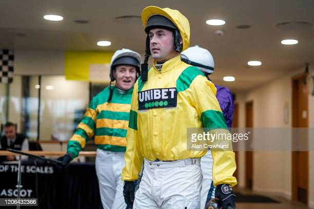 Nico de Boinville leaves the weighing room at Ascot Racecourse on February 15 2020 in Ascot England