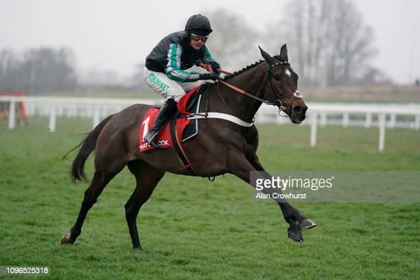 Nico de Boinville riding Altior clear the last to win The Matchbook Clarence House Chase at Ascot Racecourse on January 19 2019 in Ascot England