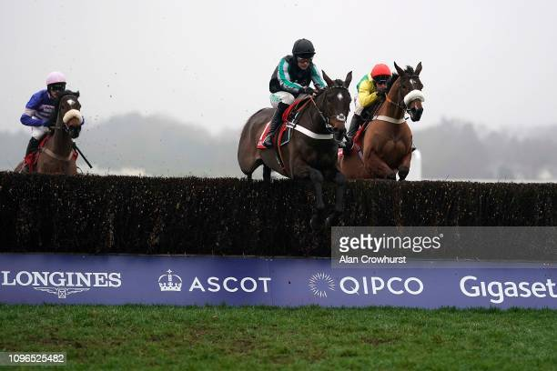 Nico de Boinville riding Altior on their way to winning The Matchbook Clarence House Chase at Ascot Racecourse on January 19 2019 in Ascot England