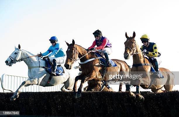 Nico de Boinville riding Barbers Shop on their way to winning The totepool Supports The Racehorse Sanctuary Foxhunters Trial at Fontwell racecourse...