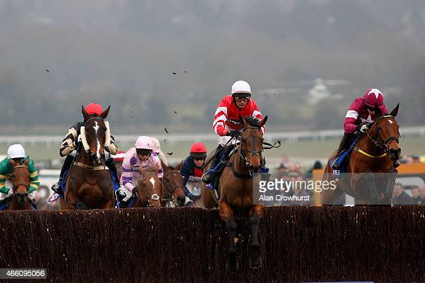 Nico de Boinville riding Coneygree lead all the way to win The Betfred Cheltenham Gold Cup during Gold Cup day at the Cheltenham Festival at...