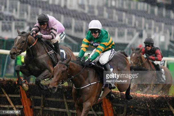Nico de Boinville riding Pentland Hills clear the last to win The Doom Bar Anniversary 4-Y-O Juvenile Hurdle from Fakir D'Oudairies on Grand National...